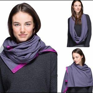 LULULEMON Vinyasa Scarf - Herringbone Purple